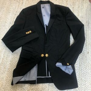 The Kooples Black Lined Blazer Jacket